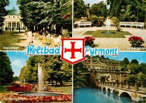 AK / Ansichtskarte Bad Pyrmont Hauptallee Fontaenenallee Palmengarten Schloss Kat. Bad Pyrmont