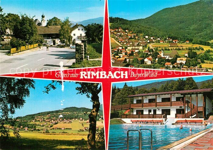 AK / Ansichtskarte Rimbach Bayrischer Wald Teilansichten Landschaftspanorama Freibad Kat. Rimbach