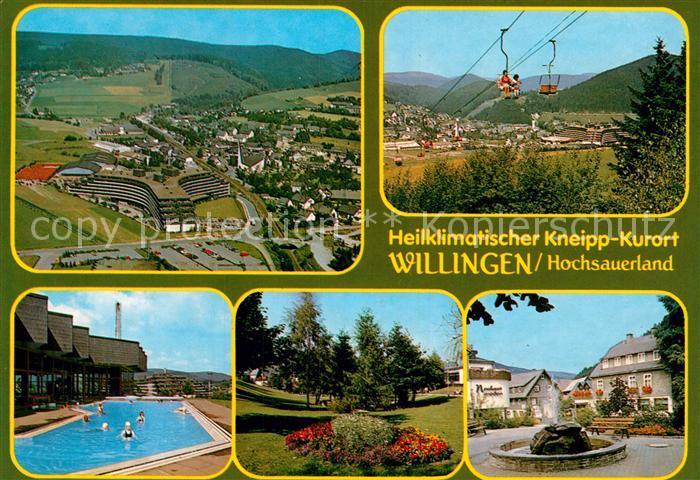 Ak Ansichtskarte Willingen Sauerland Panorama Kurort Sessellift