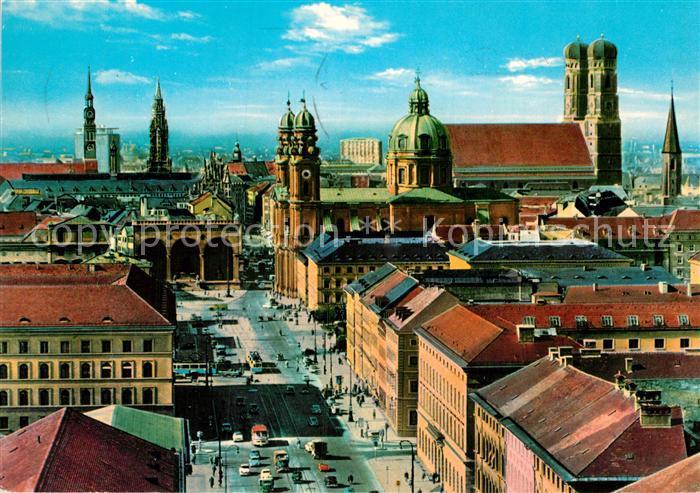 AK / Ansichtskarte Muenchen Ludwigstrasse Zentrum Frauenkirche Kat. Muenchen