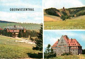 AK / Ansichtskarte Oberwiesenthal Erzgebirge Schanzen H?hensanatoriu Sachsenbaude Ferienheim der IG Wismut Aktivist Kat. Oberwiesenthal