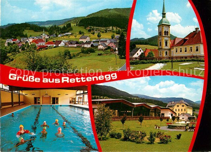 AK / Ansichtskarte Rettenegg im Feistritztal Schwimmbad Kirche  Kat. Rettenegg
