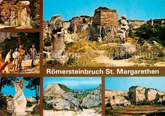 AK / Ansichtskarte St Margarethen Steinburg Bildhauer Symposion Passionsspielszene Plastik  Kat. Sankt Margarethen