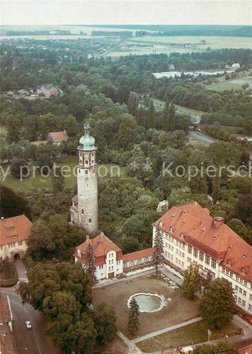 AK / Ansichtskarte Arnstadt Ilm Schlossrune Neideck und Neues Palais Fliegeraufnahme Kat. Arnstadt