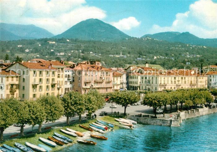 Verbania Lago Maggiore Karte.Ak Ansichtskarte Intra Verbania Uferstrasse Am Lago Maggiore