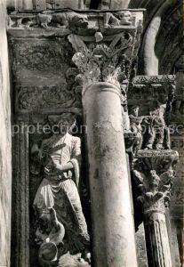 AK / Ansichtskarte Saint Gilles Gard Statues de la facade de l Eglise romane Kat. Saint Gilles