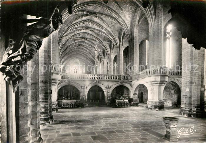 AK Ansichtskarte La Chaise Dieu Interieur De L Abbaye Saint Robert Le Jube XV Siecle