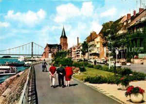 AK / Ansichtskarte Emmerich Rhein Rheinpromenade Binnenschiffahrt Kat. Emmerich am Rhein
