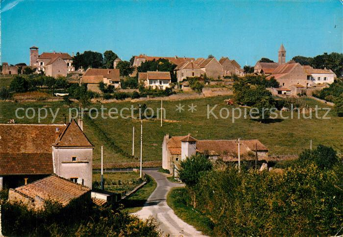 AK / Ansichtskarte Taize Saone et Loire Village avec eglise romane XII siecle Kat. Taize