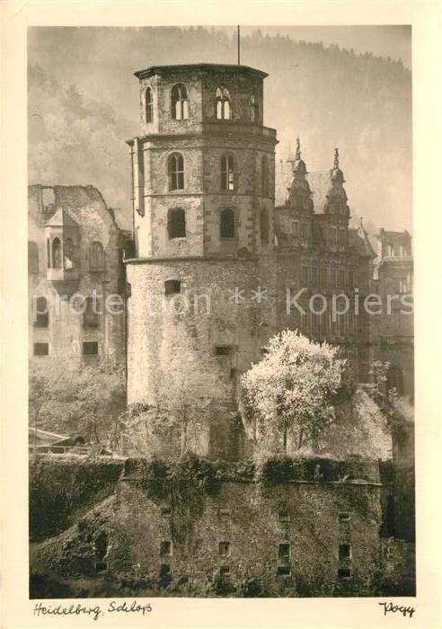 Fotografie Heidelberg ak ansichtskarte foto popp nr heidelberg schloss fotografie