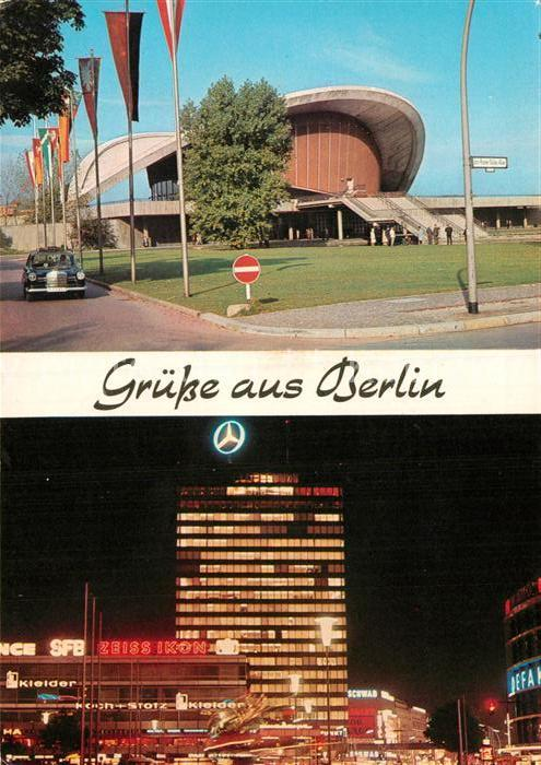 AK / Ansichtskarte Berlin Kongresshalle Europa Center mit Haus der Nationen Kat. Berlin