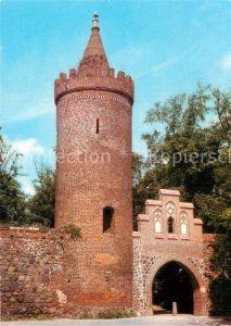 AK / Ansichtskarte Neubrandenburg Fangelturm und Stadtmauer Kat. Neubrandenburg