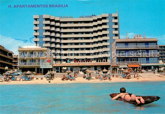 AK / Ansichtskarte Playa de Palma Mallorca Apartamentos Brasilia Kat. Spanien