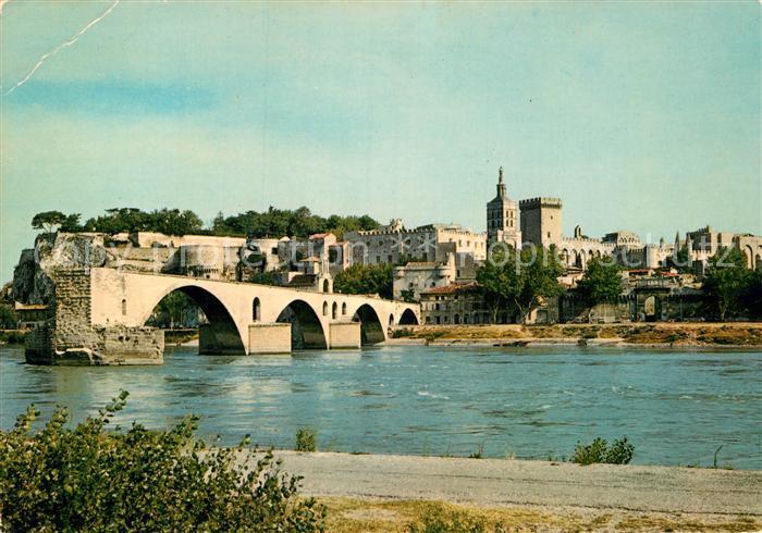 AK / Ansichtskarte Avignon Vaucluse Vue generale du Pont St Benezet et du Palais des Papes Kat. Avignon