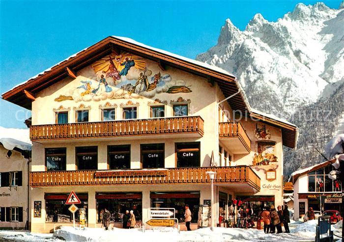 AK / Ansichtskarte Mittenwald Bayern Cafe am Mittenwald Karwendelbar Kat. Mittenwald