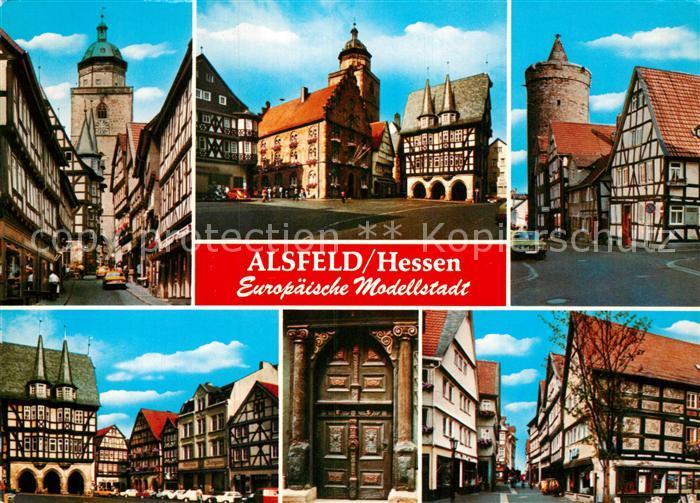 AK / Ansichtskarte Alsfeld Europaeische Modellstadt Altstadt Fachwerkhaeuser Historische Gebaeude Kat. Alsfeld
