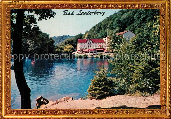 AK / Ansichtskarte Bad Lauterberg Wiesenbeker Teich Hotel am Wasser Bilderrahmen Kat. Bad Lauterberg im Harz