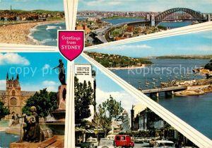 AK / Ansichtskarte Sydney New South Wales Strand Bruecke Denkmal Statue City Bucht Hafen Kat. Sydney