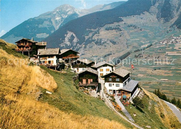 AK / Ansichtskarte Vicheres sur Liddes Route du Grand Saint Bernard Bergdorf Walliser Alpen