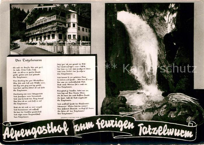 Ak Ansichtskarte Gedicht Auf Ak Joseph Viktor Von Scheffel Der Tatzelwurm Alpengasthof Kat Lyrik