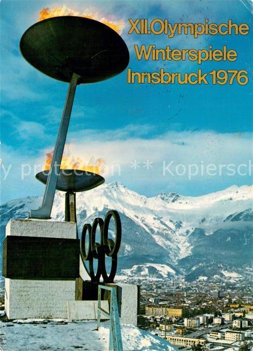 AK / Ansichtskarte Olympia XII. Olympische Winterspiele Innsbruck  Kat. Sport