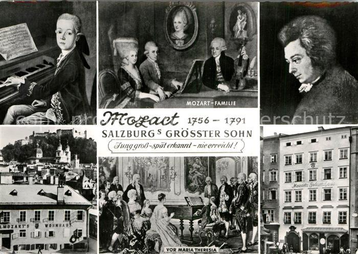 AK / Ansichtskarte Mozart Wolfgang Amadeus Geburtshaus Maria Theresia Mozart Familie Wohnhaus  Kat. Komponist