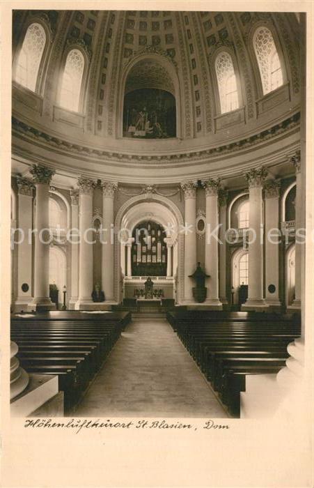 AK / Ansichtskarte St Blasien Inneres des Doms Kat. St. Blasien