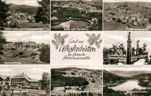 AK / Ansichtskarte Altglashuetten Fliegeraufnahme Feldberg Sommerberg Wegweiser Gesamtansicht Falkau Kat. Feldberg (Schwarzwald)