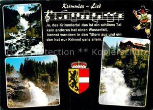 AK / Ansichtskarte Liederkarte Krimmler Lied  Kat. Musik