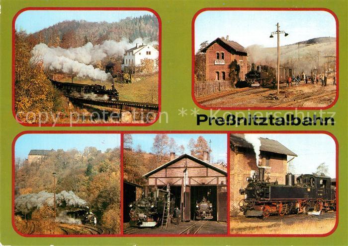 AK / Ansichtskarte Lokomotive Pressnitztalbahn Schmalspurbahn Wolkenstein Joehstaedt  Kat. Eisenbahn