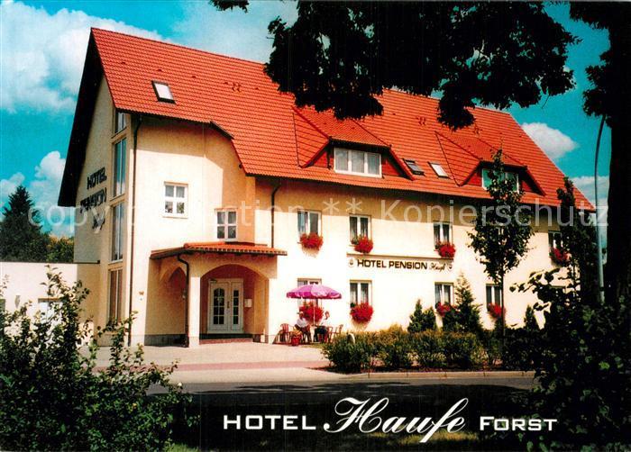 AK / Ansichtskarte Forst Lausitz Hotel Pension Haufe Kat. Forst Lausitz