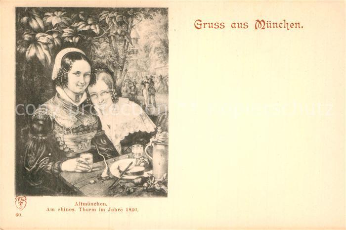 AK / Ansichtskarte Muenchen Frauen in Tracht Kat. Muenchen