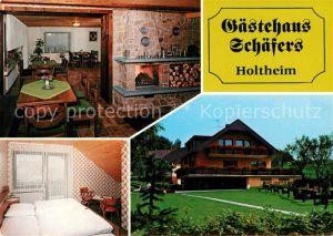 AK / Ansichtskarte Holtheim Gaestehaus Schaefers Gaststube Gaestezimmer Kat. Lichtenau
