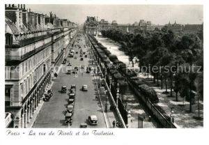 AK / Ansichtskarte Paris La rue de Rivoli et les Tuileries  Kat. Paris