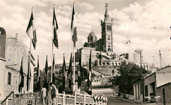 AK / Ansichtskarte Marseille Bouches du Rhone Basilique de Notre Dame de la Garde