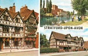 AK / Ansichtskarte Stratford Upon Avon Garrick Inn Royal Shakespeare Theatre Shakespeare Birthplace Kat. Grossbritannien
