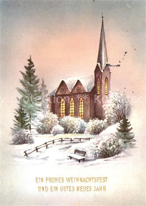 AK / Ansichtskarte Weihnachten Neujahr Kirche Kat. Greetings Nr ...