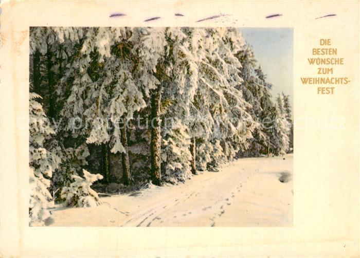AK / Ansichtskarte Weihnachten Winterlandschaft  Kat. Greetings