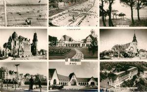 AK / Ansichtskarte Le Touquet Cercle Nautique Hotel de Ville Le Golf Marche couvert Le Casino de la Foret La Piscine Le Soir sur la Foret Eglise Ste Jeanne d'Arc Hotel Westminster Kat.