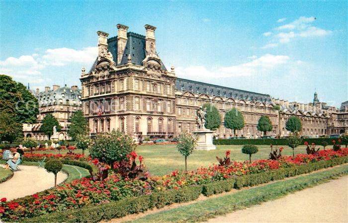 AK / Ansichtskarte Paris Le Louvre et le jardin des Tuileries Kat ...
