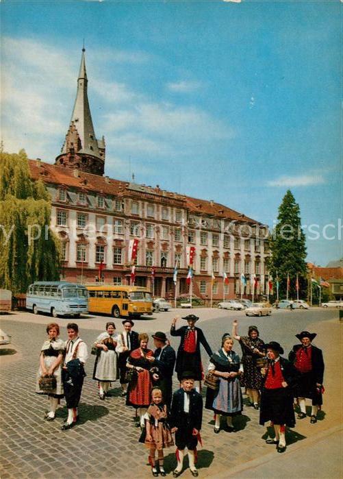Ak Ansichtskarte Erbach Odenwald Odenwaelder Trachtengruppe Mit