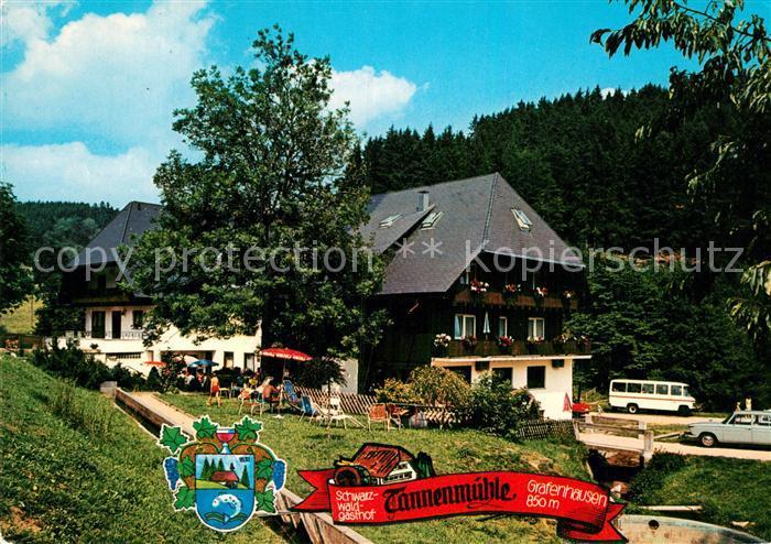 AK / Ansichtskarte Grafenhausen Schwarzwald Gasthof Tannenmuehle Kat. Grafenhausen