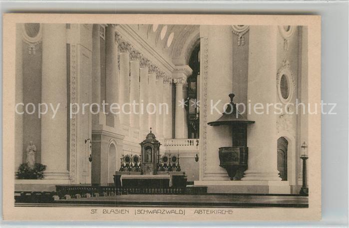 AK / Ansichtskarte St Blasien Inneres Abteikirche Kat. St. Blasien