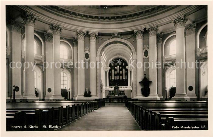AK / Ansichtskarte St Blasien Inneres der Kirche Kat. St. Blasien