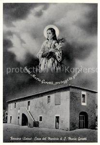 AK / Ansichtskarte Ferriere Latina Casa del Martirio di Santa Maria Goretti
