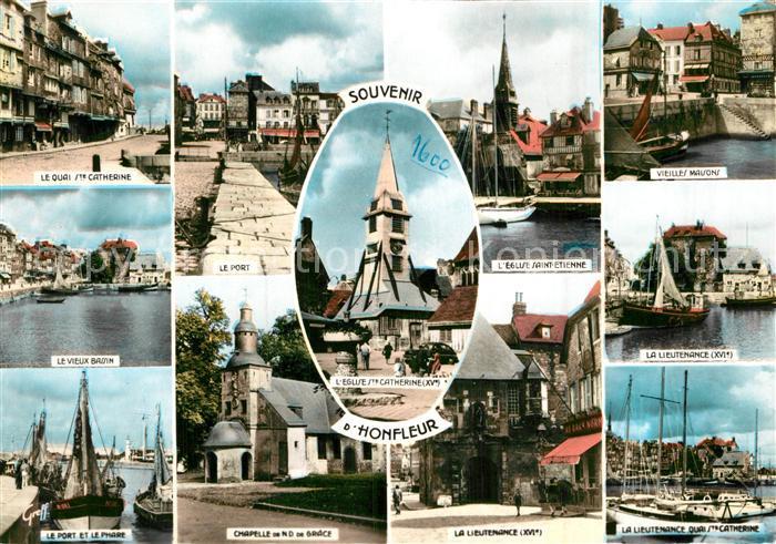 AK / Ansichtskarte Honfleur Lieutenance Eglise Sainte Catherine Port  Kat. Honfleur