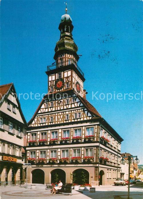 Bad Kirchheim Teck ak ansichtskarte kirchheim teck rathaus kirchheim unter teck