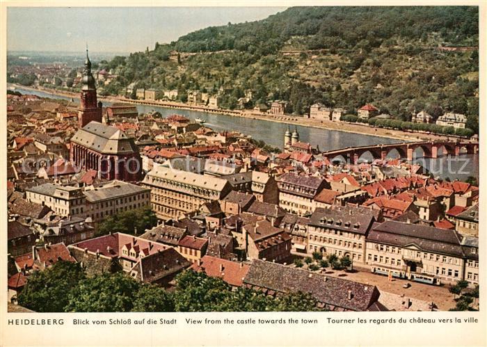 AK / Ansichtskarte Heidelberg Neckar Blick vom Schloss auf die Stadt Kat. Heidelberg