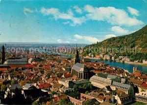 AK / Ansichtskarte Heidelberg Neckar Blick vom Schloss auf Stadt und Neckar Kat. Heidelberg