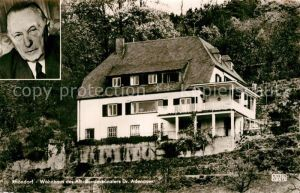 AK / Ansichtskarte Rhoendorf Wohnhaus Alt Bundeskanzler Konrad Adenauer Portrait Kat. Bad Honnef